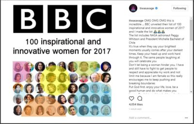 Tiwa Savage Reacts To Making BBC's Top 100 Women List 2017