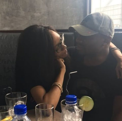 Love Photos Of Di'ja And Her Husband Rotimi As They Get Naughty At Lunch Date