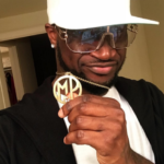 Peter Okoye Flaunts His Customized 'Mr P' Pendant