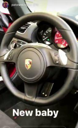 Patoranking Acquires A Brand New Porsche