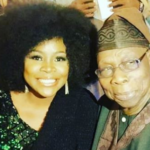 Omawumi Pictured With Former President, Olusegun Obasanjo
