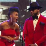 Banky W imagined out with his wife, Adesua Etomi in Lagos