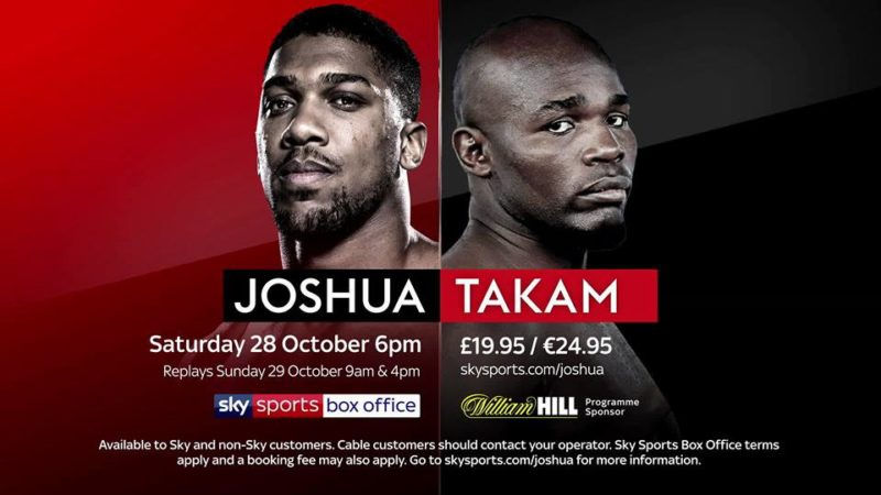 Anthony Joshua and Carlos Takam