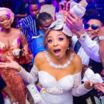 The Kiss! Photos from Oritsefemi & Nabila Fash's wedding