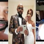 Banky W Mistakenly Shows Adesua's Unclad Body as he Share Bedroom Photos