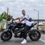 Olamide Shows Off His Power Bike