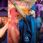 Banky W and Adesua have their first kiss and dance at their wedding (photos/video)