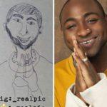 Lmao!!!! Davido, Korede Bello, Runtown, Tekno are all latest victims of celebrity caricature drawings