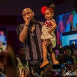 Checkout the cute moment Davido and his daughter on stage during his 30Billion Concert [Photo]