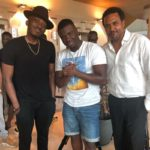 'Mans Not hot' Big Shaq pictured with Bovi and Cecil Hammond ahead of Pepsi's Rhythm Unplugged 2017 concert in Lagos