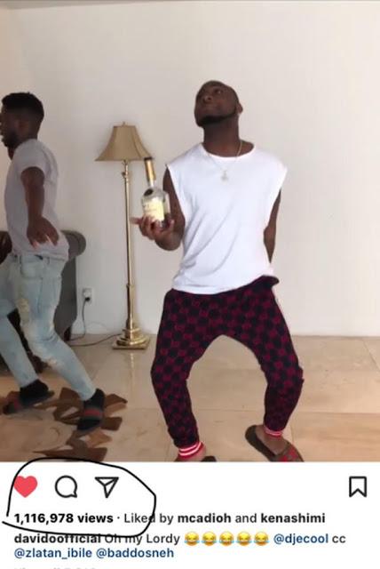 Davido dancing