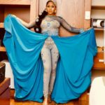 Toyin Lawani's astounding 3 piece transformer outfit to the premiere of the Wedding party 2