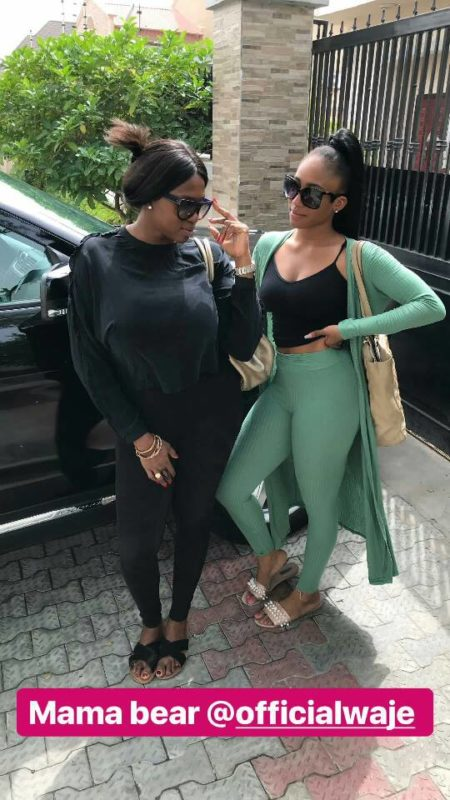Waje and her daughter