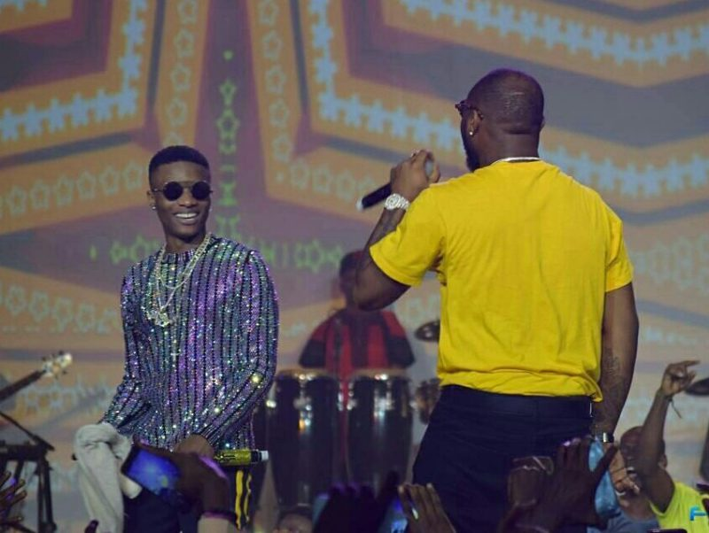 Wizkid and Davido Perform 'FIA' Together On Stage