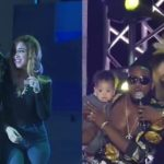The Moment D'banj Introduced His Cute Son And Wife Live On Stage (Video)