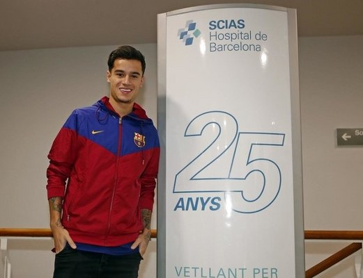 Sport: Barcelona's £142m Signing Coutinho Out For Three Weeks