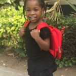 Adorable photo of Davido's daughter as she returns to school