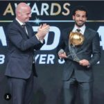 Liverpool's Salah wins CAf African footballer of the year
