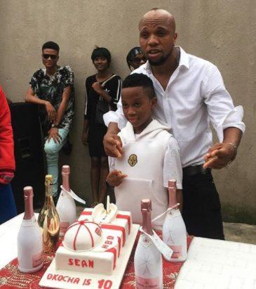 Nollywood star Charles Okocha celebrates son's 10th birthday