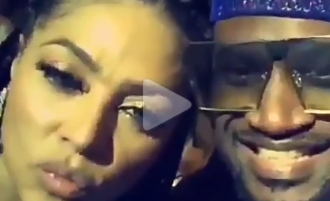 Peter Okoye's wife, Lola puffs on a cigarette as they party together