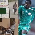 Disturbing photos of Ex Super Eagles midfielder, Wilson Oruma who has suffered relapse of emotional trauma after being duped