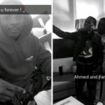 Starboy, Wizkid hangs out with Ahmed the little boy he signed at his concert [Photos]