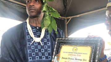 Skepta receives chieftaincy title