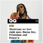 Burna Boy Features On British GQ Magazine