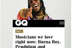 Burna Boy Features On British GQ Magazine