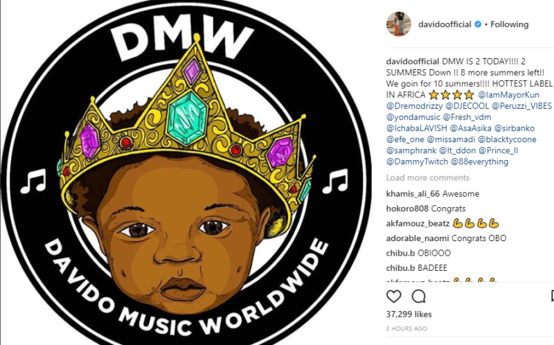 Davido plans to shutdown dmw