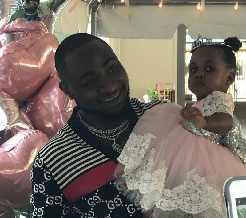 davido and daughter