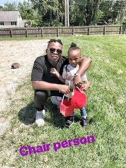 Nigerian rapper Olamide on a school run abroad with his son