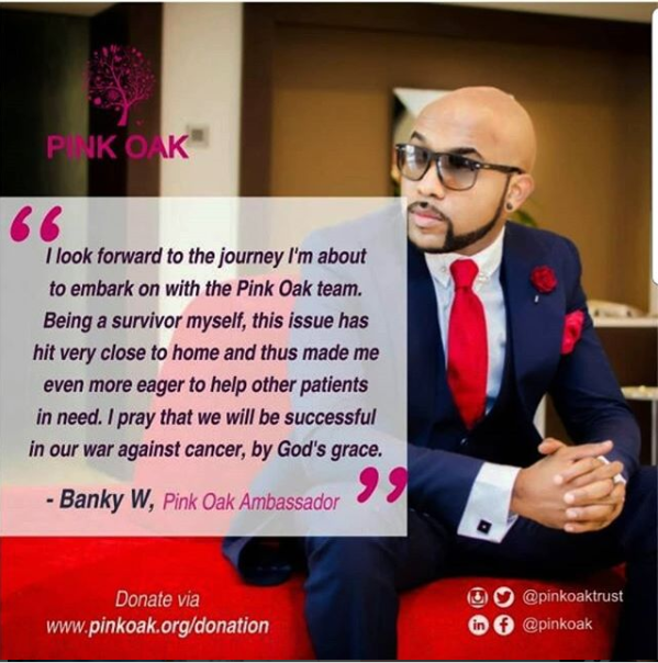 Banky W Becomes An Ambassador For Pink Oak Trust