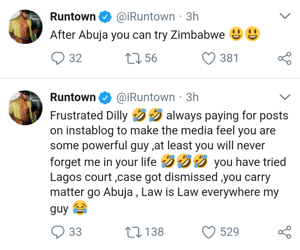 Runtown Fires Back at Record Label Boss After New Lawsuit