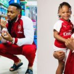 Flavour & Daughters Rock Matching Arsenal Cloth To Celebrate Wenger