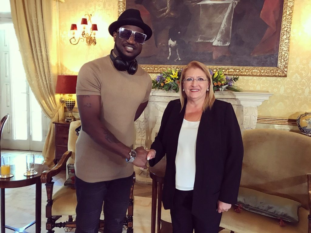 Peter Okoye meets with the President of Malta as he commences Europe visit