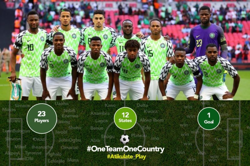 [Sports] 'One Team, One Country' - Atiku Abubakar advises Nigeria's Super Eagles