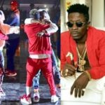 EXCLUSIVE!!! Wizkid and Shatta Wale reconciles, hugs on stage at Event in Ghana
