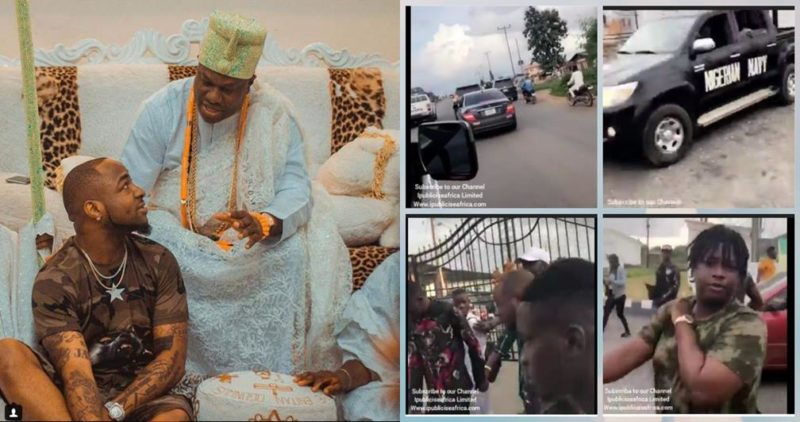 Watch The Lit Entry Of Davido & Chioma's Arrival at The Ooni Of Ife Palace with Massive Crowd