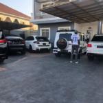 Super Eagles Player, Obafemi Martins, Strikes A Pose Inside His Impressive Garage