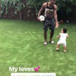 See Adorable Photos Of Super Eagles player, Emmanuel Emenike Playing With His Daughter