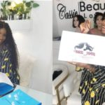 Iyabo Ojo's Daughter, Priscilla Ajoke Ojo Signs Ambassadorship Deal With Cassie Hair