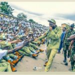 Davido Causes Commotion At NYSC Camp As He Arrives [Photos]