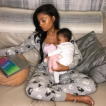 Lola Rae Shares Rare Photo With Her New Born Baby Girl