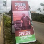 Davido Places Billboard In Support Of His Uncle's Governorship Ambition