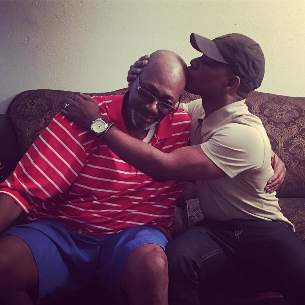 Kirk Franklin and father