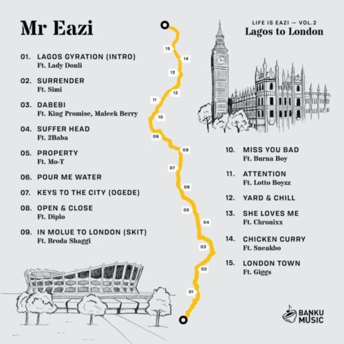 Mr Eazi - surrender ft. Simi mp3