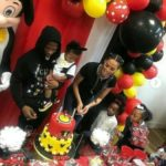 Wizkid And Jada P Throw Mickey Mouse Themed Birthday For Zion