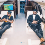 One Ticket: Davido & Kizz Daniel Spotted In His Private Jet