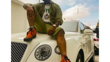 Davido on his Bentley Bentayga
